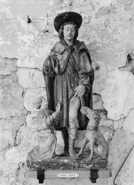 Groupe sculpté (petite nature) : saint Roch