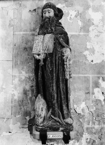 Groupe sculpté (demi-nature) : saint Antoine