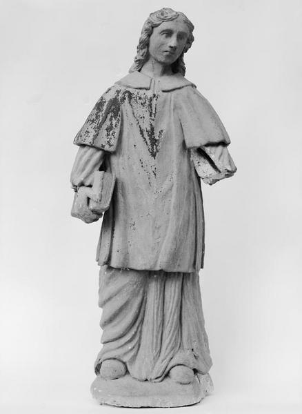 Statue (petite nature) : saint diacre