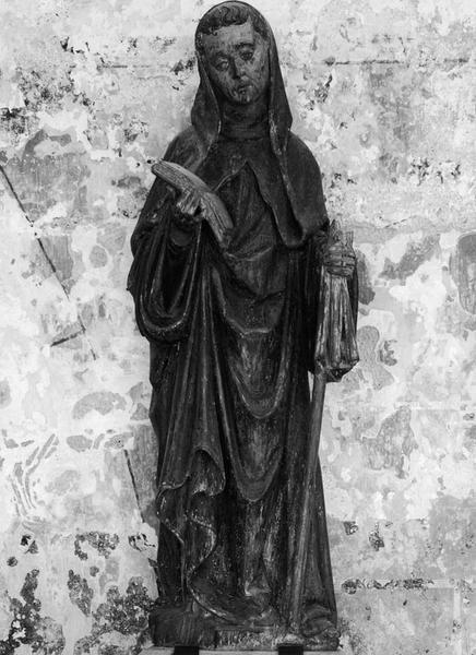Statue (petite nature) : saint abbé