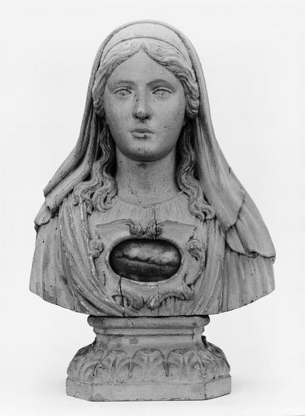 2 bustes-reliquaires (en pendant)