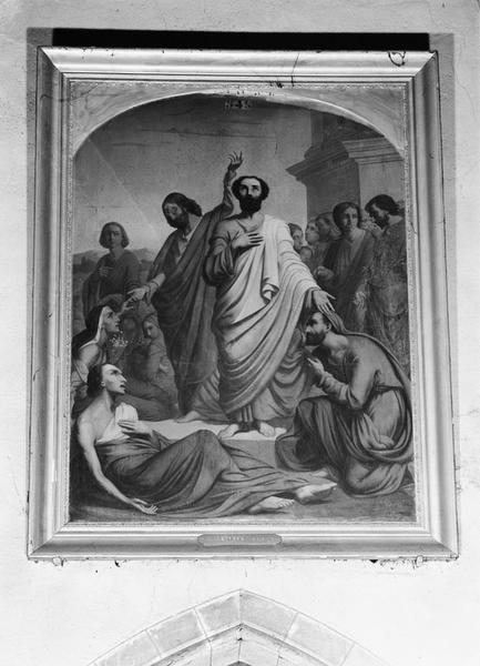 Tableau : saint Pierre et saint Jean guérissant Le Boiteux ?
