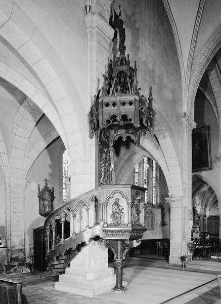 Chaire à prêcher (d'applique), style néo-gothique