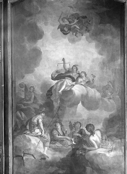 Peinture monumentale : allégorie de la Justice