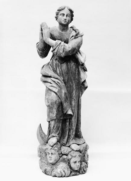 Statue (demi-nature) : Vierge de l'Assomption