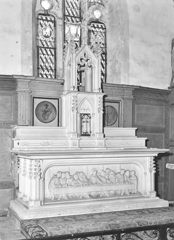 Maître-autel, tabernacle et dais d'exposition