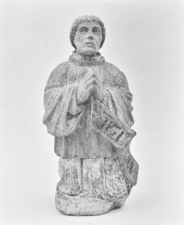 Statuette : prêtre en donateur