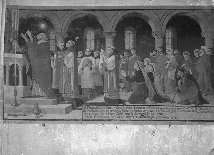 Peinture monumentale (toile peinte) : la Messe de saint Martin