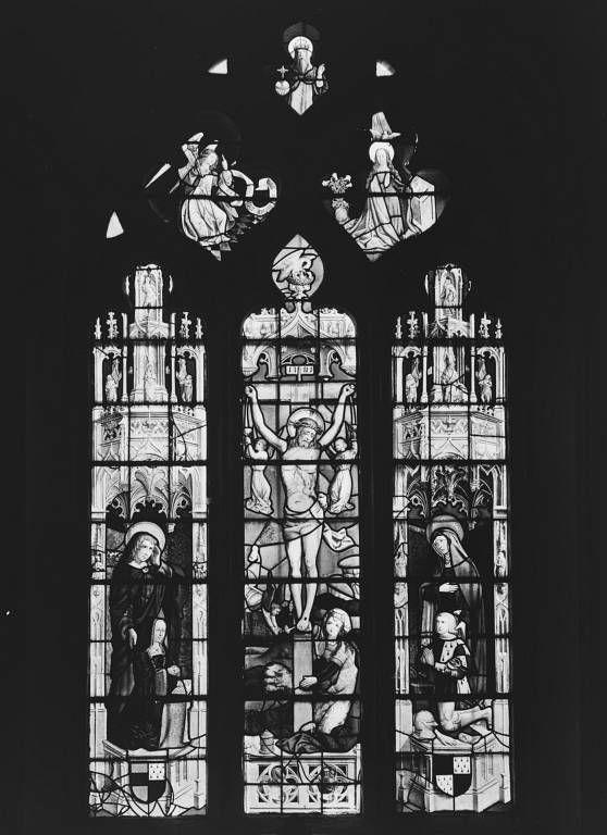 verrière figurée : Crucifixion (baie 0)