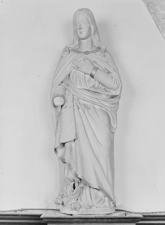 Ensemble de trois statues : saint Jean-Baptiste, saint Martin et sainte Marguerite d'Antioche