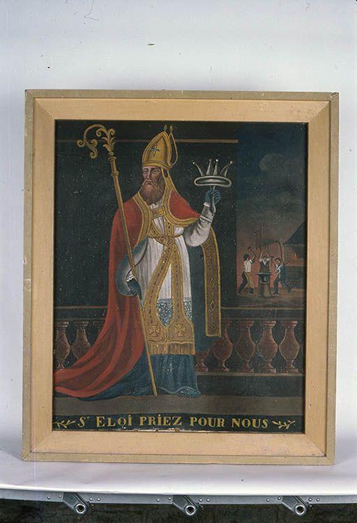 Tableaux en pendant : saint Claude et saint Eloi