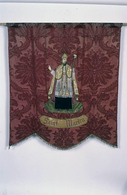 Bannière de procession : sainte Sabine et saint Martin
