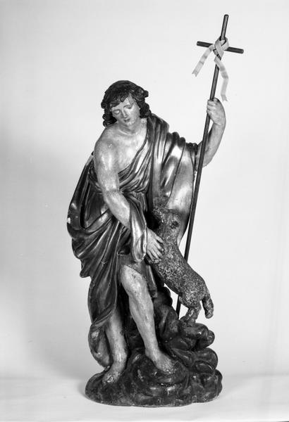 Groupe sculpté : saint Jean-Baptiste