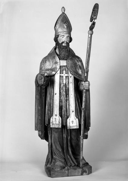 Statue (petite nature) : saint Léger (2)