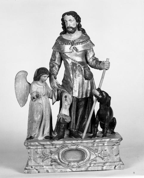 Bâton de procession : saint Roch