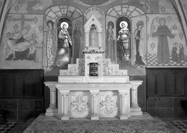 Autel (maître-autel, autel mixte), style néo-gothique