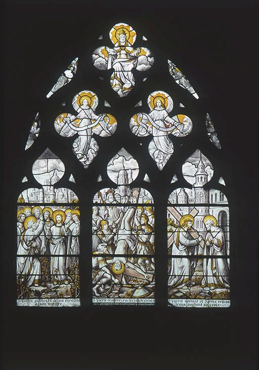 verrière figurée : saint Pierre (baie 18)