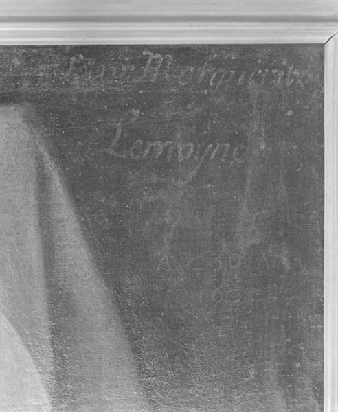 Tableau : portrait de soeur marguerite Lemoyne, numéro d'inventaire : 87 GHD 0012