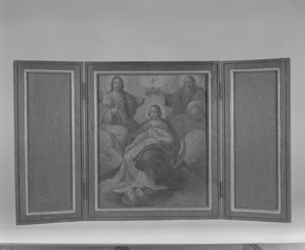 Tableau : le Couronnement de la Vierge (numéro d'inventaire : 87 GHD 0694)