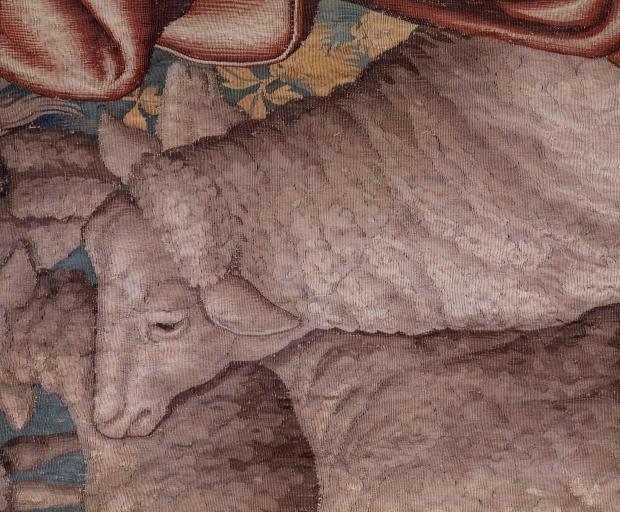 5 pièces murales (tenture) : Histoire de Jacob (numéro d'inventaire : 87 GHD 255 à 259)