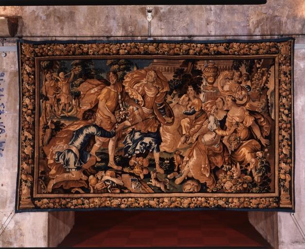 Tenture : histoire d'Achille (3 pièces murales, numéro d'inventaire : 87 GHD 1263, 1268, 1267)