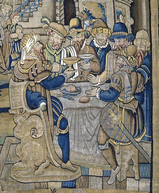 2 pièces murales (tenture) : Histoire d'Esther (numéro d'inventaire : 87 GHD 1349 et 1350)