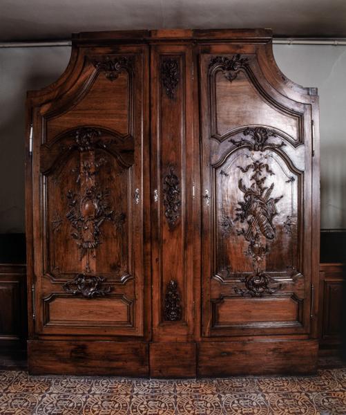 Armoire de sacristie, numéro d'inventaire : 87 GHD 0067 et 68