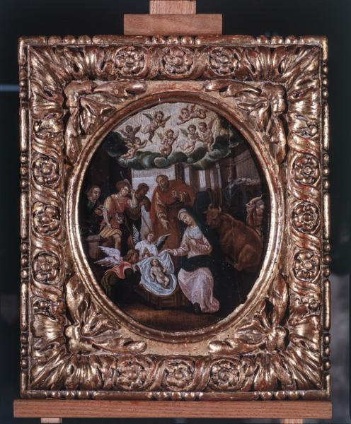 8 tableaux : l'Annonciation, la Visitation, la Nativité, la Présentation au Temple, Jésus parmi les docteurs, la Flagellation, Portement de croix, Résurrection du Christ (numéros d'inventaire : 87 GHD 0764, 0765, 0992, 0993)