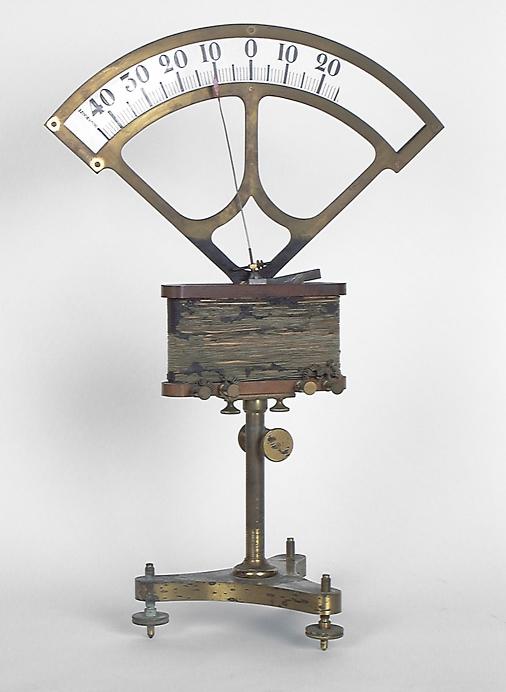 Instruments de mesure de forces électromotrices : galvanomètre de Bourbouze