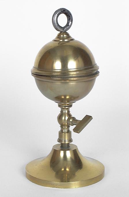 Instrument de démonstration en statique des fluides : hémisphères de Magdebourg