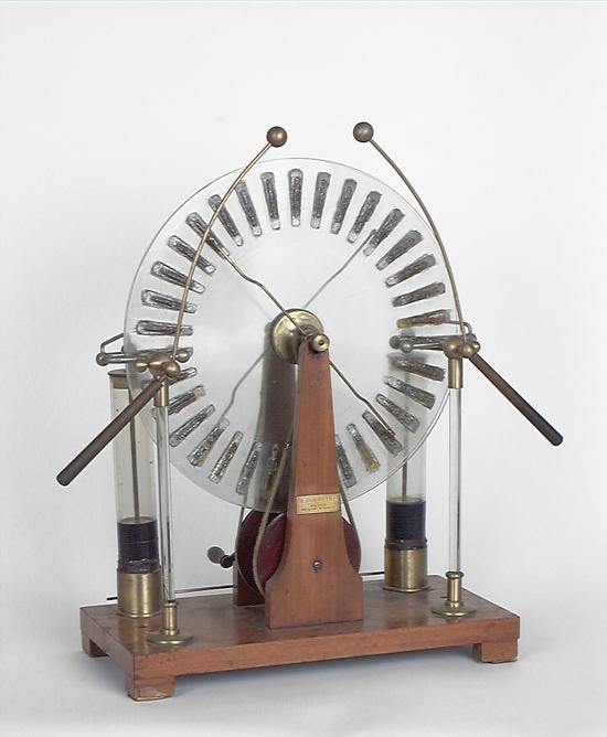 Instrument de démonstration en électrostatique : machine de Wimshurt