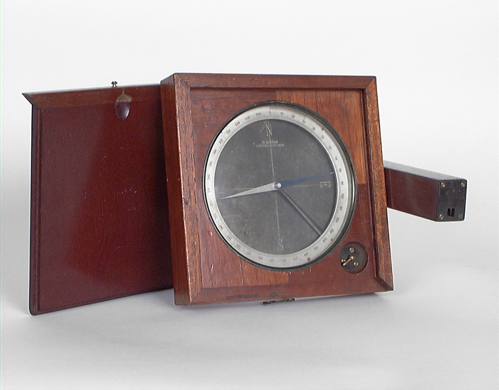Instrument de mesure des angles pour le repérage des points cardinaux : boussole à boîtier