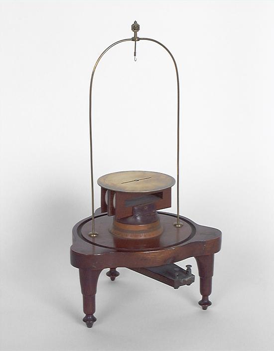 Instruments de mesure de forces électromotrices : galvanomètre de Nobili