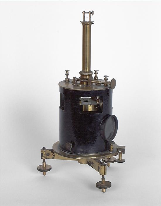 Instrument de mesure des charges électrostatiques : électromètre à quadrants de Mascart