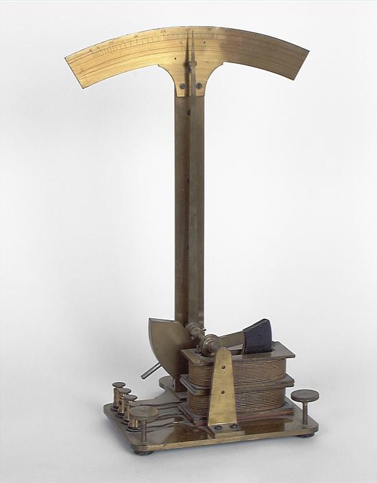 Instruments de mesure de forces électromotrices : galvanomètre
