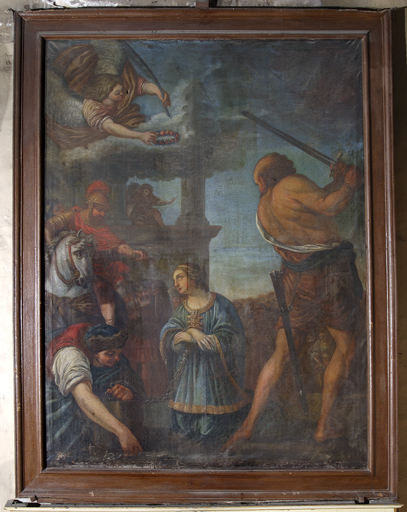 Tableau : Le Martyre de sainte Reine