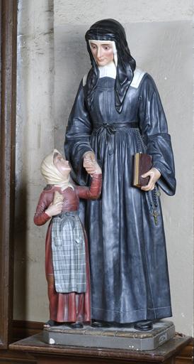 Groupes sculptés (2) : Saint Vincent de Paul ; sainte Louise de Marillac