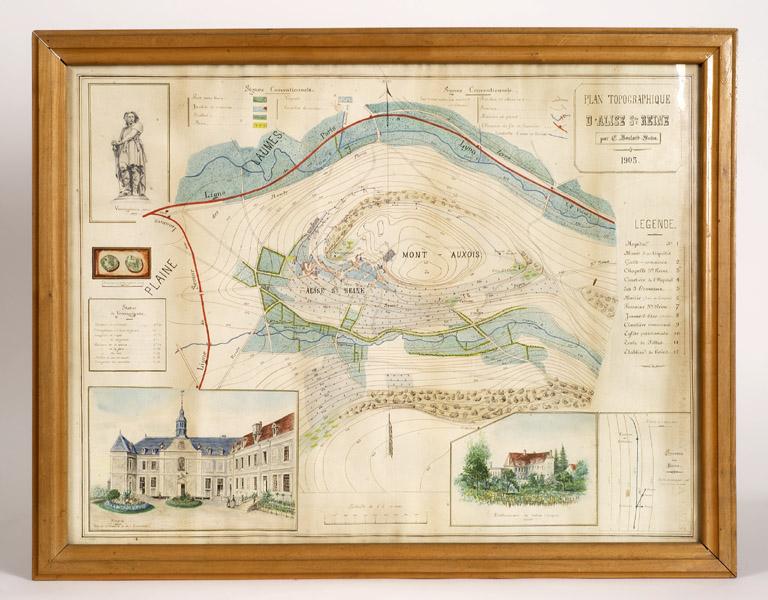 Plan topographique du village et du Mont-Auxois