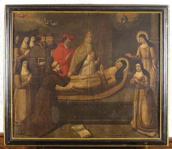 Tableau : La Mort de sainte Colette