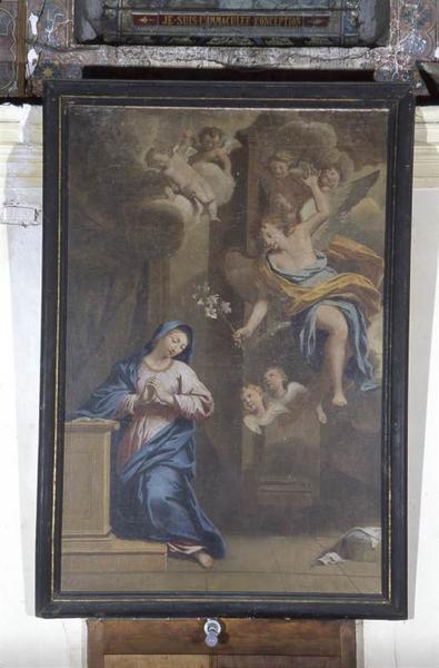 Ensemble de six tableaux : Annonciation, Mariage de la Vierge, Visitation, Présentation au Temple, Fuite en Egypte, Mort de la Vierge
