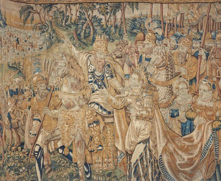 Tenture de la Vie de Moïse, comprenant 7 pièces de tapisserie