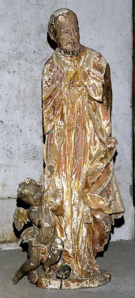 statue et groupe sculpté : saint Bonaventure et saint François de Sales (?)