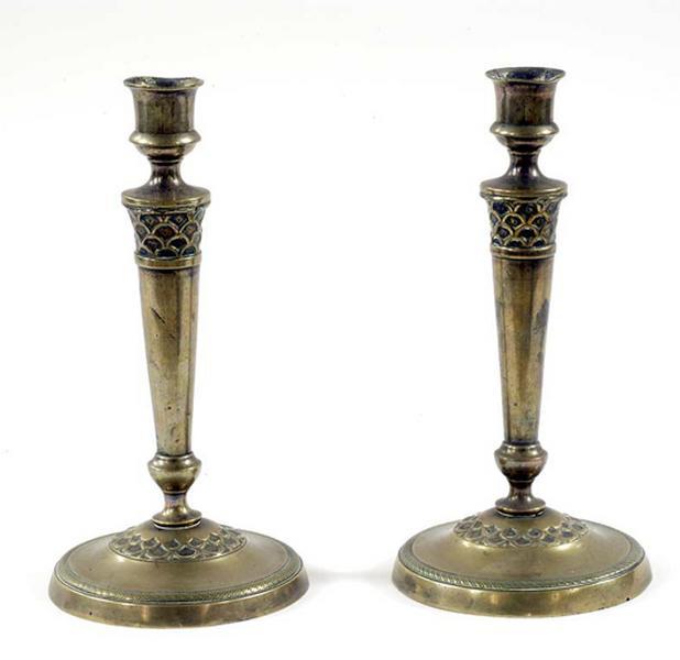 Ensemble de quatre chandeliers (flambeaux)