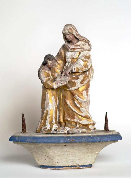 Bâton de procession : Education de la Vierge