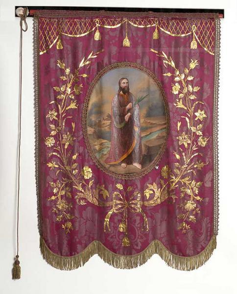 Bannière de procession : saint Barthélemy
