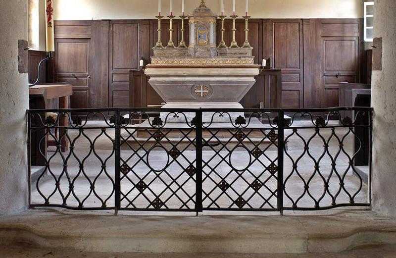 Clôture de choeur, grille de communion