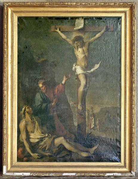 Tableau encadré : Christ en croix, espoir du mourant