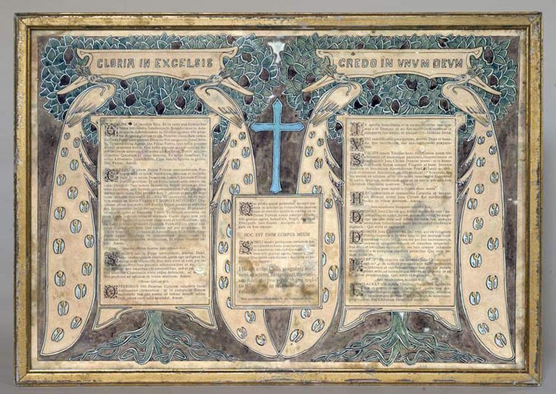 Canons d'autel de style Art nouveau