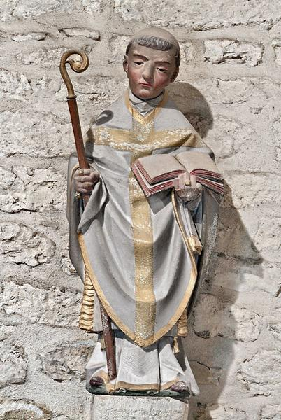 statue : saint Philibert (?)