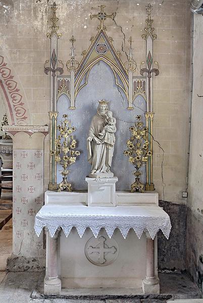 autels secondaires dédiés à saint Joseph et à la Vierge